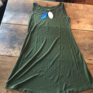 Cut Loose Dress Large Forest Green